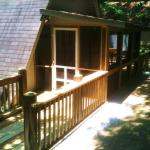 Other side of railing and screened porch