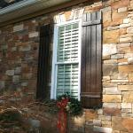 Custom-matched refinished exterior shutters
