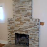 Faux Stacked Stone Cimney