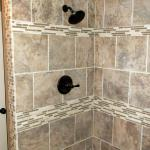 Custom Tile Shower with Mosaic Accents