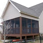 Deck Extension/Rebuild with New Gable Roof, Matched Siding and Shingles