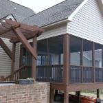Deck/Roof Addition with Custom Arbor/Pergola above Outdoor Kitchen (Alternate View)