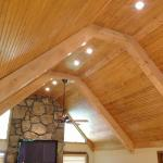 Stain Grade Vaulted Craftsman Ceiling with Faux Beam Structure