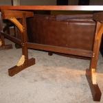 Custom Designed Timber Table w/ Hand-Cut Mortises, Oak, Maple, and Cypress Material. (View 2)
