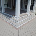 Composite Decking and Custom Terracing for Colonial Coastal inspired Designer Porch