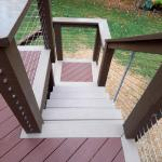 Custom Tri-tone Deck with Cable Railing (View 3)