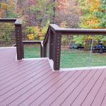 Custom Tri-tone Deck with Cable Railing (View 2)