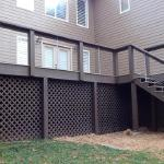 Custom Tri-tone Deck with Cable Railing