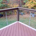 Custom Tri-tone Deck with Cable Railing (View 4)
