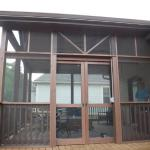 Collegedale porch double slider doors