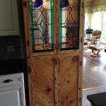 Hand made cabinet from 100 year old reclaimed heart pine