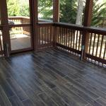 East Brainerd Porch and Deck inside view with tile flooring